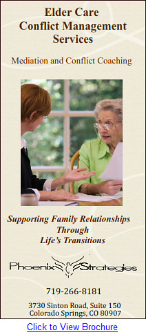 Elder Care Mediation and Conflict Coaching Services
