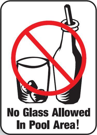 No Glass Allowed